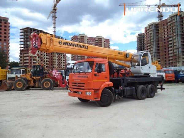 Автокран 25 тонн, 40 метров на базе Камаз