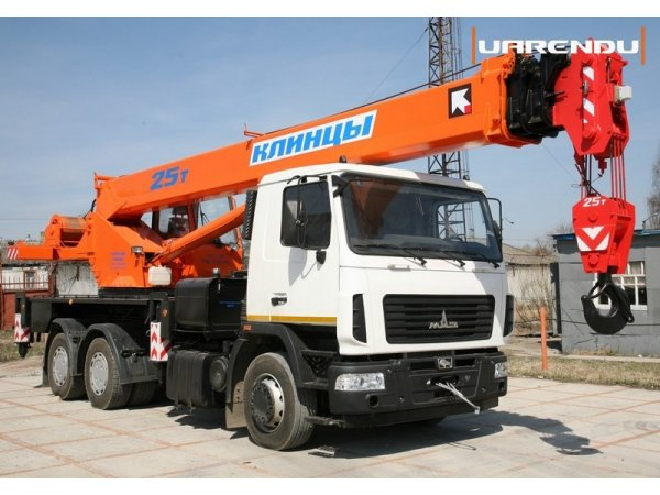 Автокран 25 тонн, 28 метров, МАЗ