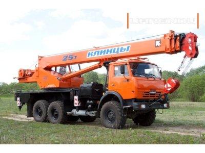 Автокран 25 тонн, 37 метров